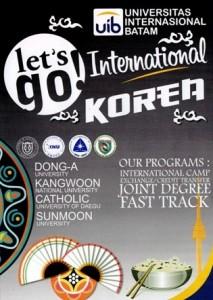 Brosur kerjasama internasional UIB dengan Korea