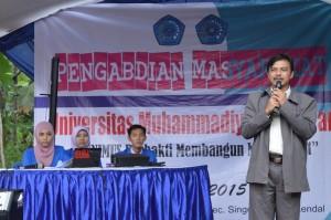 Sambutan opening ceremony oleh WR III