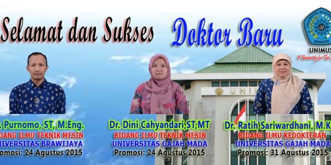 Selamat dan Sukses Atas Promosi Doktor