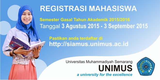 Registrasi Mahasiswa Semester Gasal Tahun Akademik 2015/2016