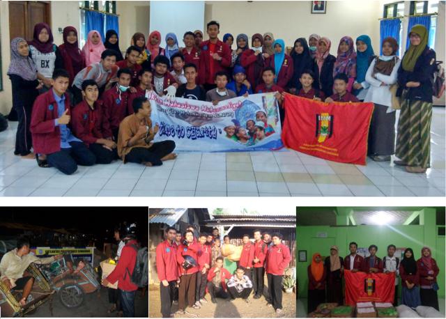 Tim aktivis mahasiswa IMM UNIMUS dalamaksi bakti sosial sebagai wujud pengabdian sosial masyarakat di Kota Semarang dan Kabupaten Demak