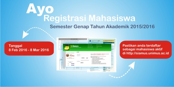 registrasi mahasiswa lama smt genap tahun akademik 2015/2016