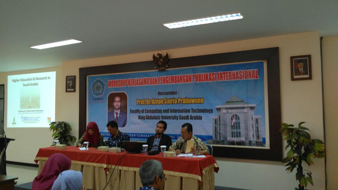 Workshop Publikasi Internasional di Unimus