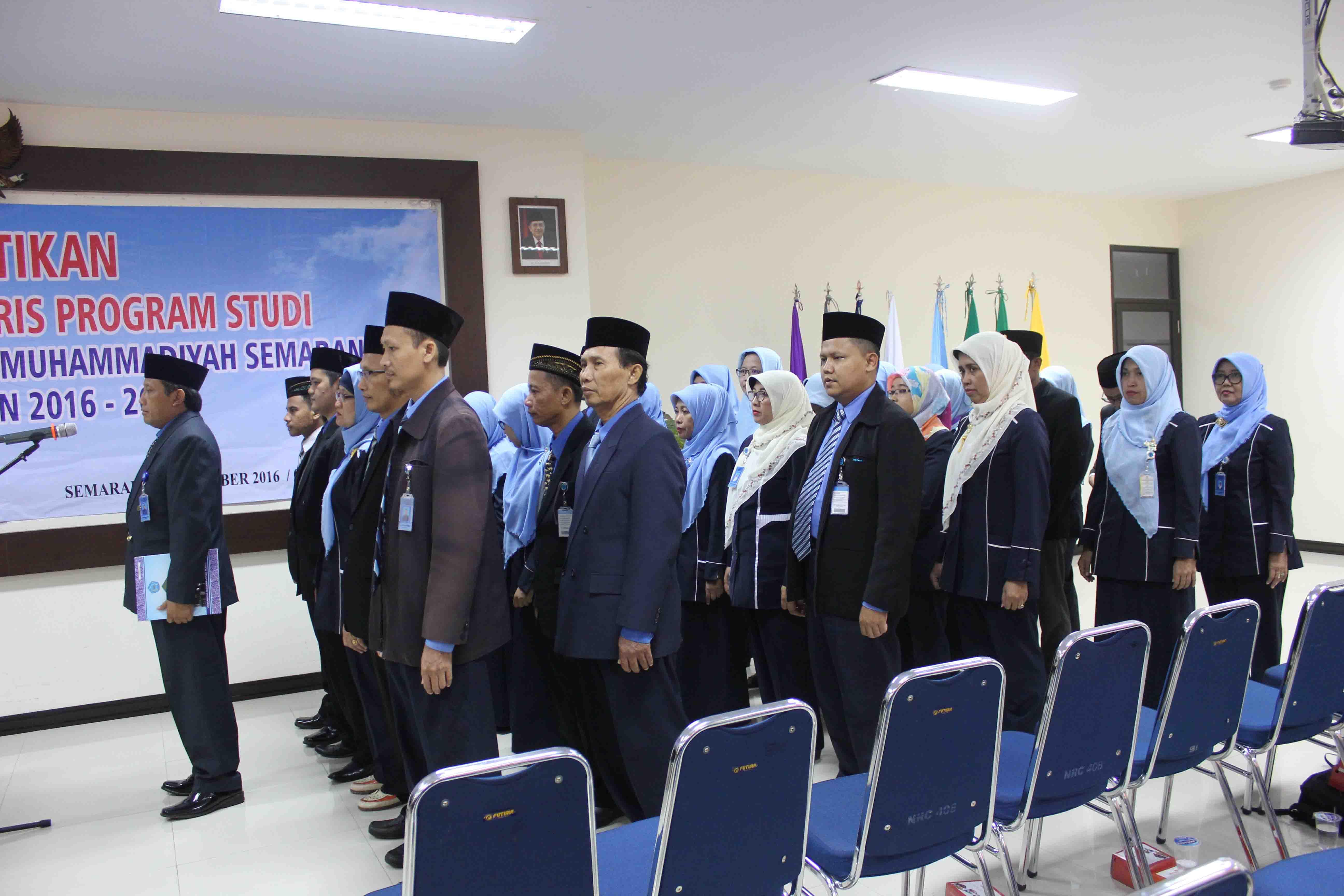 Pelantikan Ketua dan Sekretaris Program studi