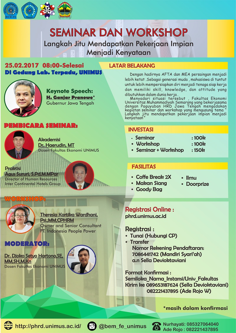 Seminar dan Workshop FE Unimus 2017