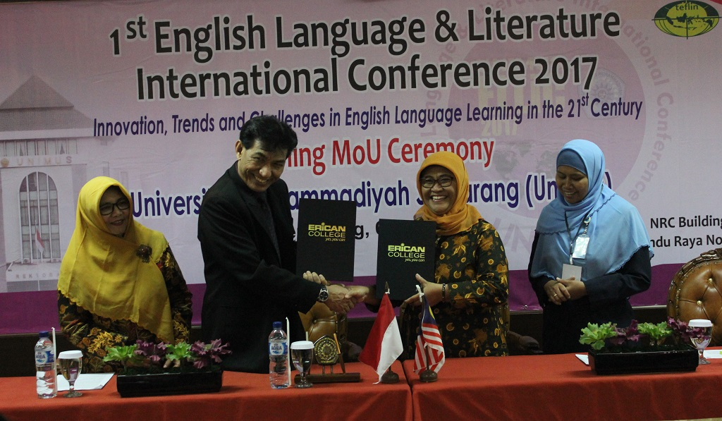 Executice Vice Chairman ERICAN Education Group Malaysia dan Wakil Rektor I Unimus