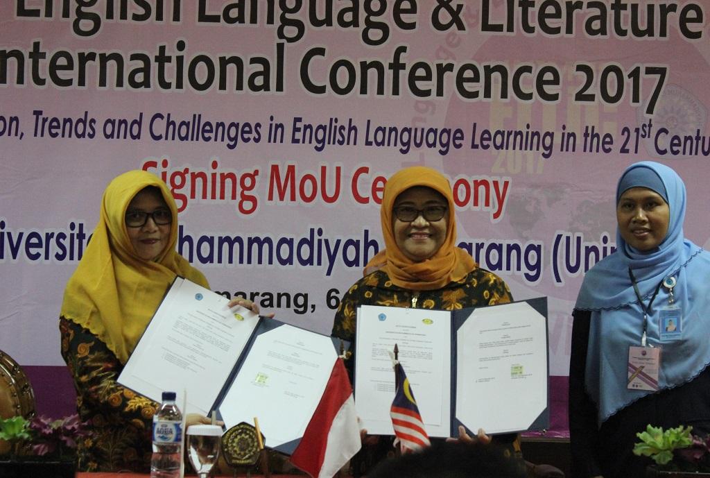 TEFLIN Coordinator for Central Java dan Wakil Rektor I Unimus